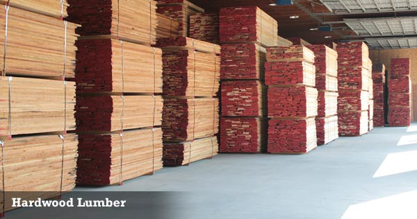 Hardwood Lumber at Wible Lumber in South Milford, Indiana